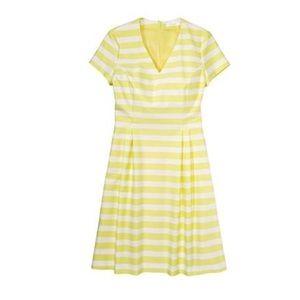 Boss Hekata v- neck striped cap sleeve dress